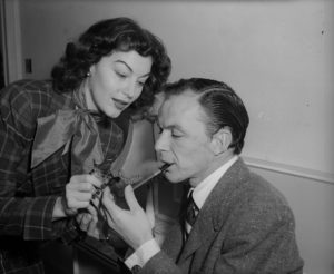 11th December 1951:  American popular singer and actor Frank Sinatra (1915 - 1998) with his wife, film actress Ava Gardner (1922 - 1990).  (Photo by Walter Bellamy/Express/Getty Images)